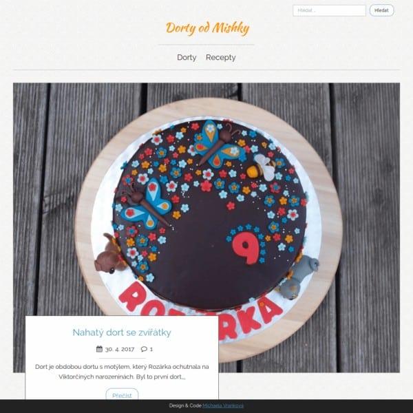 Obrázek úvodní strany dortového webu