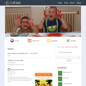 Snímek úvodní obrazovky webu ZŠ a MŠ Deblín