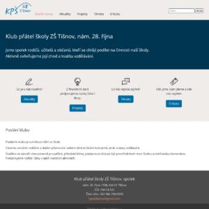 Snímek úvodní stránky webu KPŠ 28 Tišnov