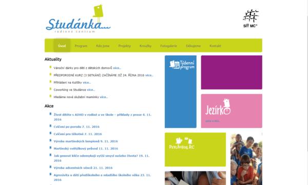 snímek obrazovky původního webu RC Studánka