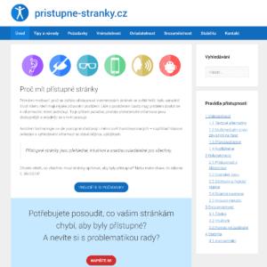snímek obrazovky webu pristupne-stranky.cz