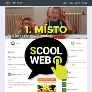 Web základní školy Deblín získal první místo za nejlepší školní web v soutěži sCOOL web